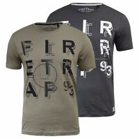Mens T Shirt Firetrap Graphic Cotton Crew Neck Olney Short Sleeve Tee