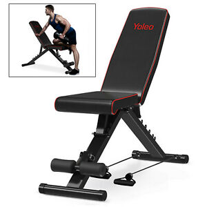 Heavy Duty Adjustable FID Weight Bench Flat/Incline/Decline Gym/Dumbbell