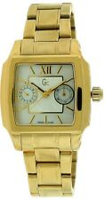 INEW AUTHENTIC GUESS COLLECTION Gc I33506L1 GOLD TONE STAINLESS WATCH NWTB