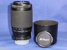 NIKON NIKKOR ZOOM AF 75-240 mm  f4-5.6 D PER NIKON FULL FRAME DX PERMUTA SCONTO,