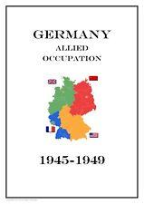 Germany Allied  Occupation 1945-1949  PDF(DIGITAL) STAMP ALBUM PAGES
