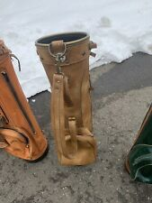 Classic Hot-Z Pro Group Vintage Leather Golf Bag With Accessories