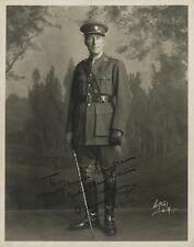 William Desmond Taylor rare signed photograph in military uniform ins... Lot 161