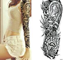 Brazo de Corazón Tribal Tatuaje Temporal Completo Pegatinas Body Art 3D Tatoo Impermeable