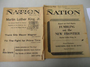 Martin Luther King Jr Civil Rights Report Nation Magazine Black Americana 1962