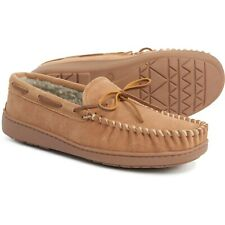MINNETONKA Men's Tyson Trapper Suede Sherpa Moccasin Slippers Cinnamon All Sizes