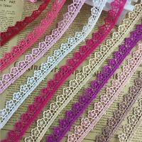 15 Yards Vintage Cotton Flowers lace Crochet Trim Wedding Bridal Ribbon Sewing