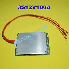 12V 3S PCM BMS 100A for 3cells in series Li-ion LiPO battery with Balance charge