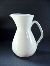LOT #1:  RöRSTRAND POTTERY, SWEDEN:  LARGE WHITE MILK OR WATER POURING PITCHER