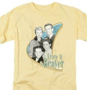 Leave it to Beaver T-shirt retro 60s classic TV graphic printed NBC575 Yellow