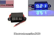 Blue Mini DC Waterproof 0.28 DC 3.5-30V Mini Digital LED Voltmeter Volt Meter