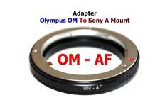 Om - Af Olympus Om Objetivo Lente Adaptador a -to Minolta Af Sony Alpha a Monte