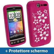 Rosa Custodia Floreale per HTC Desire Bravo G7 Silicone Skin Case Cover