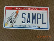 Florida Challenger - Columbia  License Plate SAMPL (Sample)