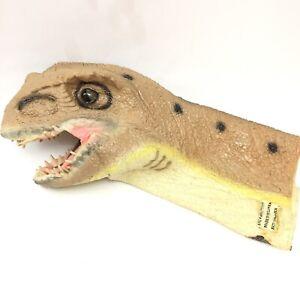 "DISNEY T-REX Hand Puppet, DINOSAUR, Dinoland Animal Knigdom 12"" Latex Rubber Toy"