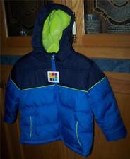 Healthtex Hooded Winter Jacket Coat Blue Thrill Fleece Lined Boys 3T Nwt