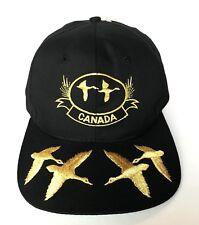Canada Ducks Geese Goose Black Gold Baseball Trucker Vintage Snapback Hat Cap