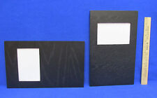 2 Photo Picture Frames 4 x 6 Horizontal Vertical Hanging Clips Black Wood Grain