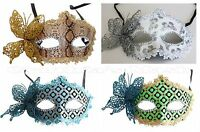 Venetian Masquerade Mask w/ Rhinestones & Butterfly Party Prom Halloween Costume