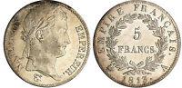 NAPOLEON BONAPARTE PREMIER EMPIRE 5 FRANCS 1813 A PARIS