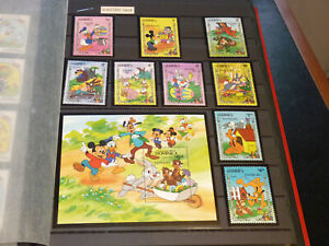 SET OF 10 DISNEY STAMPS - DOMINICA EASTER 1984