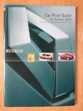 RENAULT 2004 UK Mkt price list brochure - Clio Laguna Megane Vel Satis Avantime