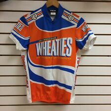 Vintage PEARL IZUMI WHEATIES Cycling Jersey Shirt Zip Size Medium