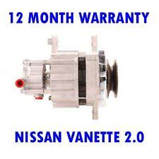 NISSAN VANETTE 2.0 BOX 1991 1992 1993 1994 1995 REMANUFACTURED ALTERNATOR