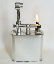 Vintage Dunhill X-Large Lift Arm Silver Plate Table Lighter In Working Condition