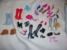 Lot Of 25 Doll Shoes Boots Fits Most 12 Inch Dolls