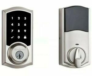 Kwikset 916 TRL-ZW SmartCode Touchscreen Electronic Deadbolt - Nickel smart lock
