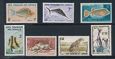 "Somali Coast ""FISH & ANIMALS"" (1959) #271-273 & #275-278; ALL MH; AS SHOWN"