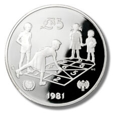 1981 Malta - International Youth Conference - 5 Pounds - Proof Silver Coin