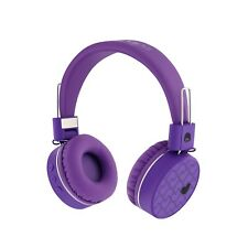 Rockpapa K8 Foldable On Ear Wireless Headphones Bluetooth for Kids Girls Purple