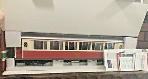 LGB Standard G scale Item No. 30650 RhB Salon Car with lights new old stock.