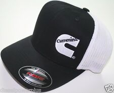 Dodge Cummins truckers mesh summer cummings hat black white cap fitted flex fit