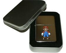 Super Mario Lighter with Gift Tin Emblem NO FUEL INC Smoking Tobacco Gaming