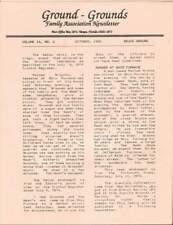 GROUND - GROUNDS FAMILY ASSOCIATION NEWSLETTER OCTOBER 1992