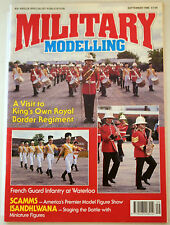 Magazine Military Modelling Sept 1990 Vol. 20 No. 9 The Guard at Waterloo
