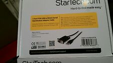 StarTech.com 1 Port FTDI USB to RS232 Serial Null Modem Adapter Cable