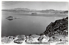 RPPC Lake Mead from Lake View Point BOULDER DAM Vintage Photo L.L. COOK L-157