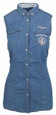 L' ARGENTINA Damen Jeans Bluse Denim Shirt Größe 38 M Ibiza Polo Club Baumwolle