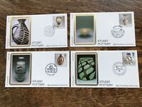 Gb Fdc Benham 1987 STUDIO POTTERY Set Of 4 PRISTINE