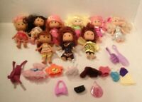 Vintage Mixed LOT 9 Strawberry Shortcake Etc Other Dolls Clothing Accessories
