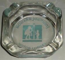 ASHTRAY GLASS HOWARD JOHNSON'S MOTOR LODGES INN HOJO'S GREAT CONDITION