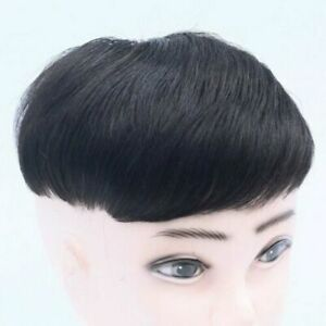 16x18 cm 100% Real Human Hair Topper Toupee Clip Hairpiece Lace Top Wig For Men
