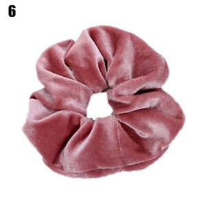 New Candy Color Soft Flannel Elastic Hair Bands Women Girls Headwear Rubber Band