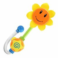 1 Set Baby Funny Water Game Bath Toy Bathing Tub Sunflower Shower Faucet Spray