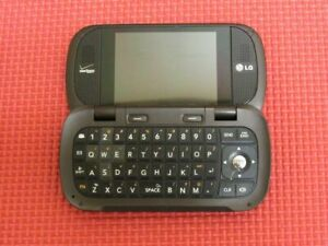 LG Octane LG-VN530 QWERTY Keyboard Verizon Wireless 120MB Brown Flip Cell Phone