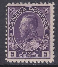 Canada 112 Mint 1922 5c Violet KG V Issue Scv $40.00
